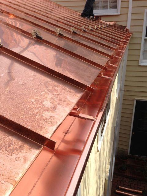 Kupferdach Kupferdach Mit Traditioneller Stehfalz Kupferdach Dach Schiefer Fassade