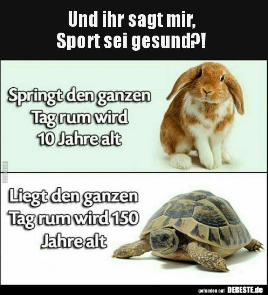 Und Ihr Sagt Mir Sport Sei Gesund Lustige Bilder Spruche Witze Echt Lustig Lustige Sport Spruche Lustige Bilder Lustig