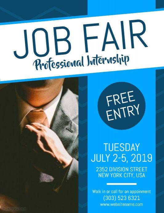 Hiring Poster Templates Postermywall Flyer Template Flyer Job Fair