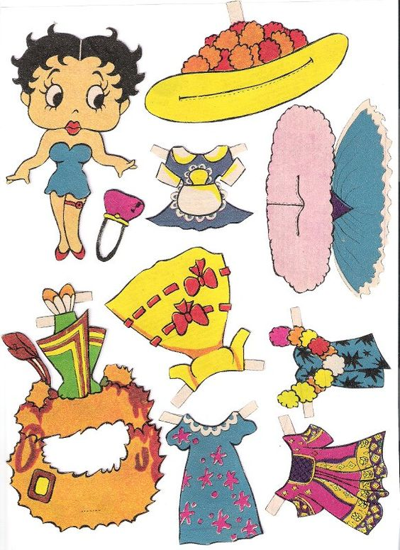 Paper dolls and paper toys pinterest betty boop paper dolls and 1