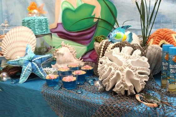 """Photo 10 of 23: Ocean/Under the Sea / Birthday """"""""The Little Mermaid"""""""" 