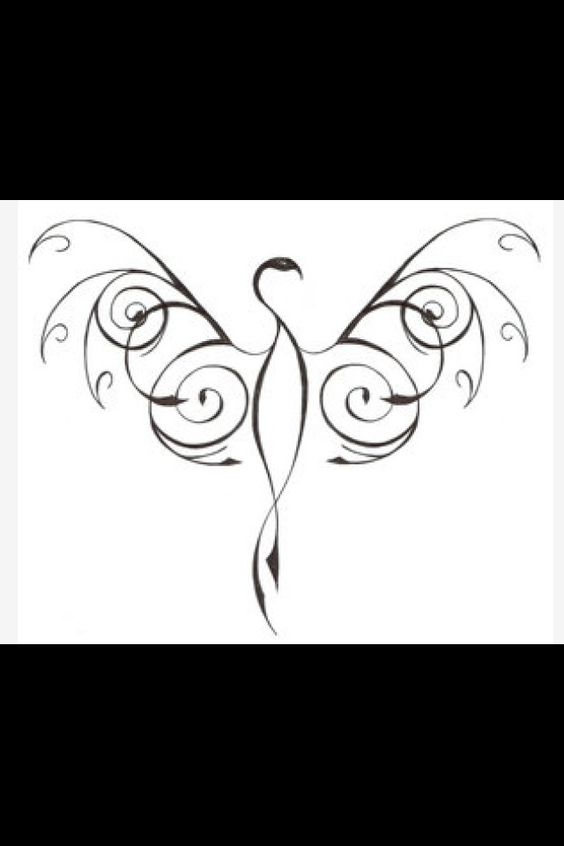 Phoenix tattoo ---love it! Need to adapt it to put on my right side of rib cage