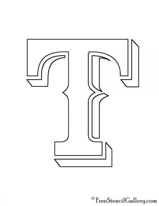 Mlb Texas Rangers Logo Stencil Texas Rangers Logo Mlb Texas