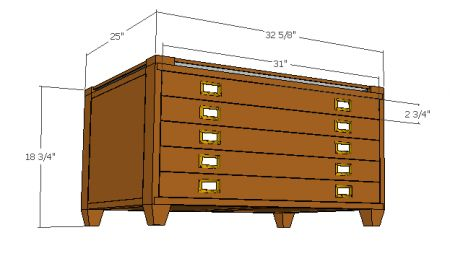 I want to make a map cabinet at some point and this is a good reference but I need some more inspiration first for dimensions and finishes