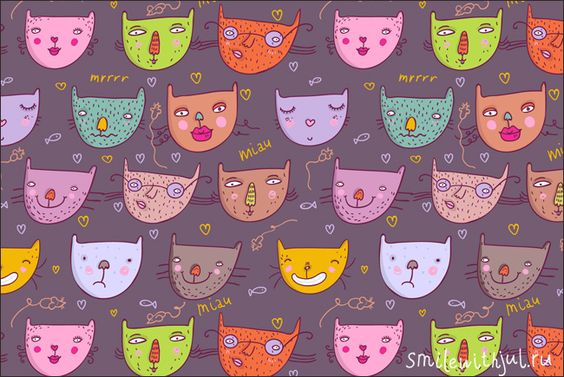 Julia Grigorieva | cat pattern III