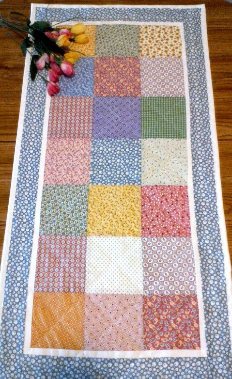 Table Runner  Machine Quilted   Reversible  36 x by ripnrollrugs