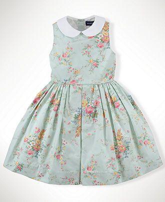 Ralph Lauren Kids Dress Little Girls Floral Dress with Collar ...