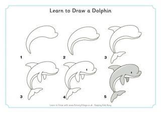 Apprendre dessiner un dauphin dessiner apprendre - Dauphin a dessiner ...