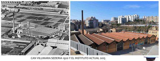 Can Vilumara Sederia 1920 y el instituto actual 2015