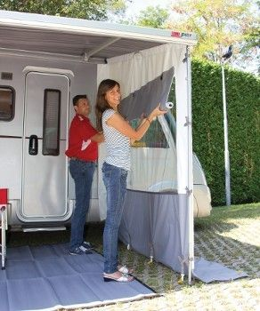 Full Side Panel With Large Central Window And Inside Roll Up Privacy Curtain To Fit To Fiamma F45 And F65 Awni Awning Shade Panel Siding Left And Right Handed