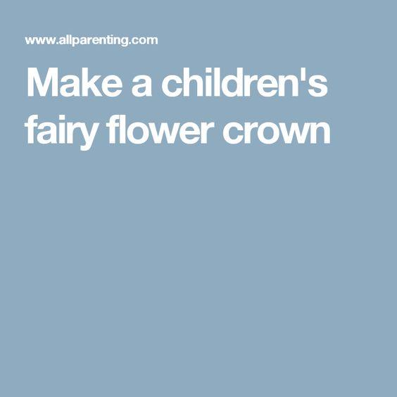 Make a children's fairy flower crown