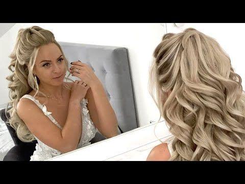 148 4 Half Up Half Down Wedding Hairstyles Tutorials Youtube Wedding Hair Down Wedding Hairstyles Tutorial Long Hair Styles