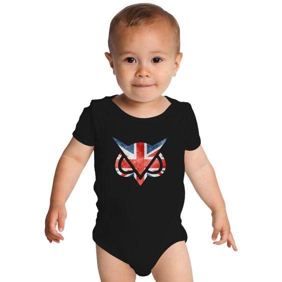 Vanoss Great Britain Flag Baby Onesies