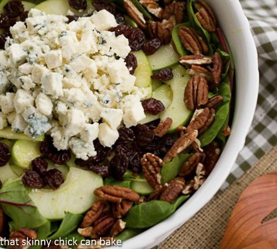Winter Salad with Apples, Pecans, Blue Cheese and Dried Cherries