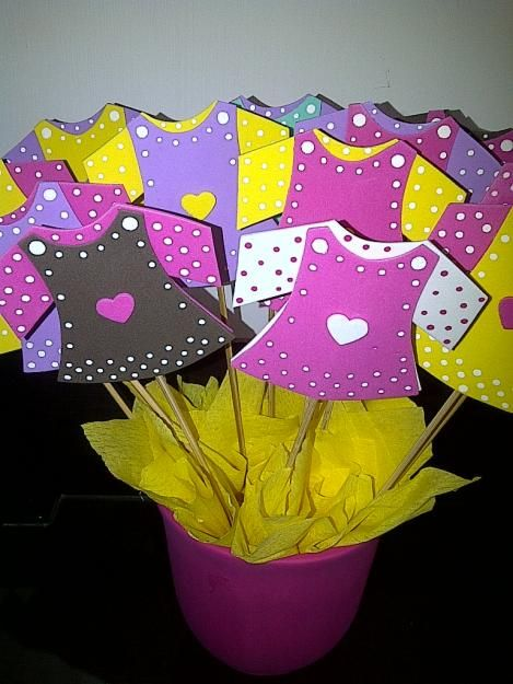 Baby Showers Manualidades ~ Ideas de manualidades para baby shower niña en foami