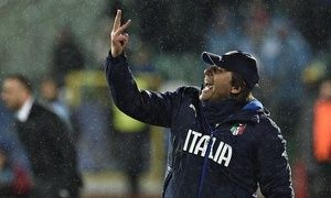 The Italy coach, Antonio Conte, during their Euro  2016 qualification game against Bulgaria in Sofia