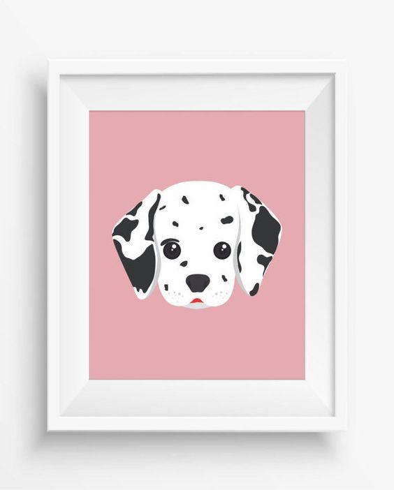 Dalmata ,Cute Dog Print,Puppy,Puppy watercolor,Pet Decor,digital Prints,instant Download,home decor,