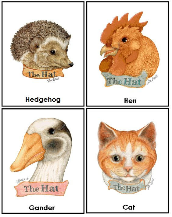 The Hat by Jan Brett cards | Winter | Pinterest | Coloring, Groundhog ...