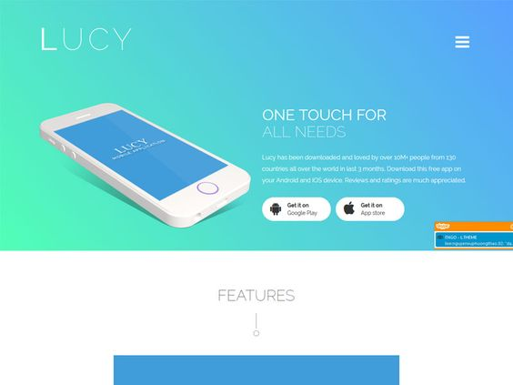 Lucy - Bootstrap App Landing Page Template is an ideal choice for your next…