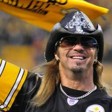 Terrible towel rally... Brett Michaels