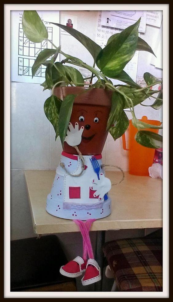 decorando con macetas y m s mu ecos personalizados con On munecos con macetas
