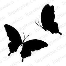 Solid Frilly Butterfly Pair - E8750: