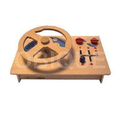 Kinder Spielzeug aus Holz Lenkrad mit Gangschaltung, Zifferblätter und Schalter aus Buchensperrholz: Amazon.de: Spielzeug