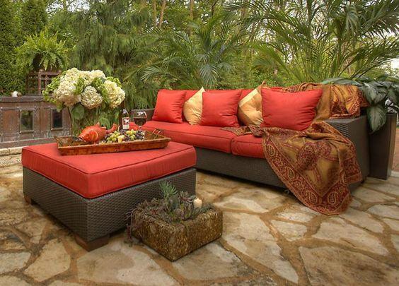 Flagstone paver patio #landfare #housetrends