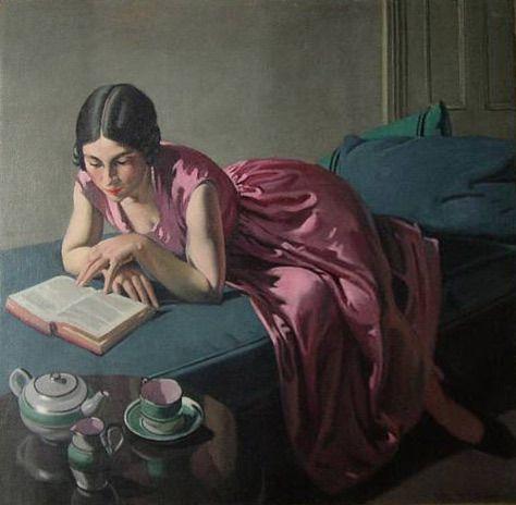 Retrato de Mickey,  esposa do pintor Bernard Fleetwood-Walker (Inglaterra, 1893 – 1965) óleo sobre tela,:
