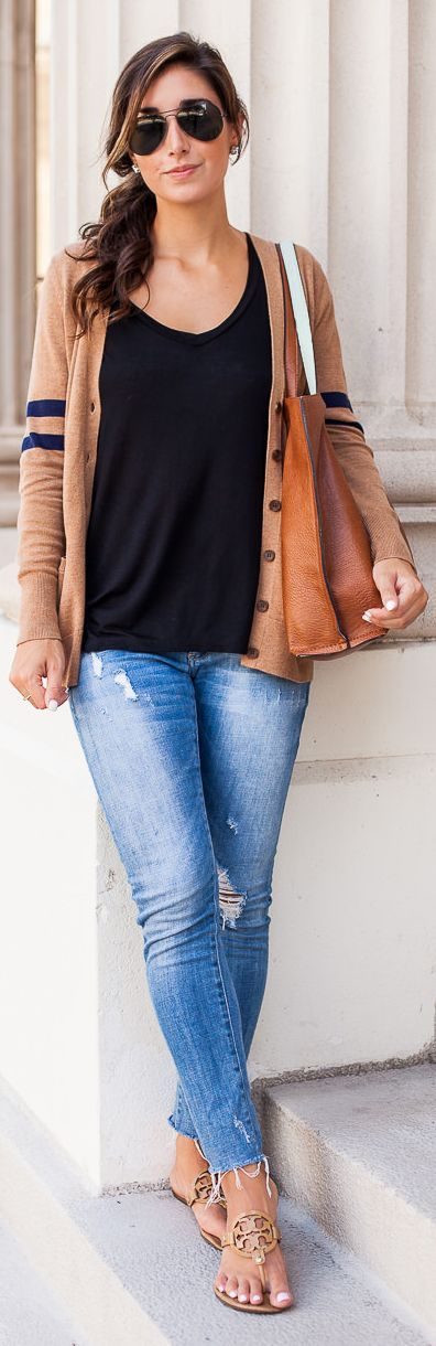 Fall Cardi Outfit Idea by The Darling Detail