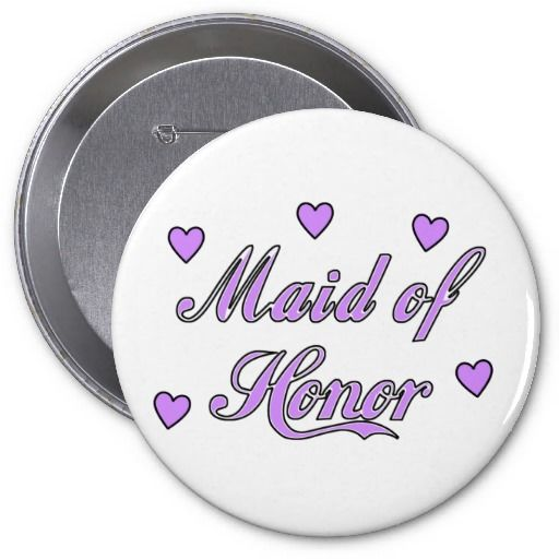 Maid of Honor Wedding Hearts