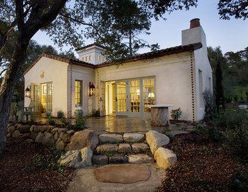 Montecito cottage exterior mediterranean exterior for Tiny house santa barbara