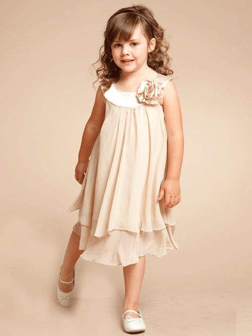 Charming Champagne Double Layered Flowergirl Dress - Summer ...