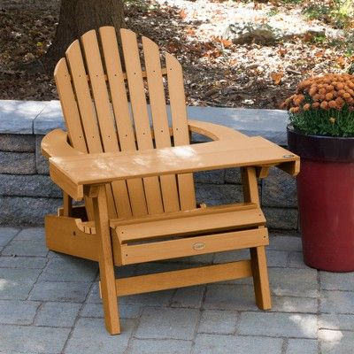 Hamilton Adirondack Patio Chair With Reading Table Toffee Highwood Adirondack Chair Folding Adirondack Chairs Patio Chairs