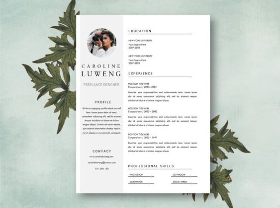 Resume \ cover letter template, resume template, word resume - resumedoc