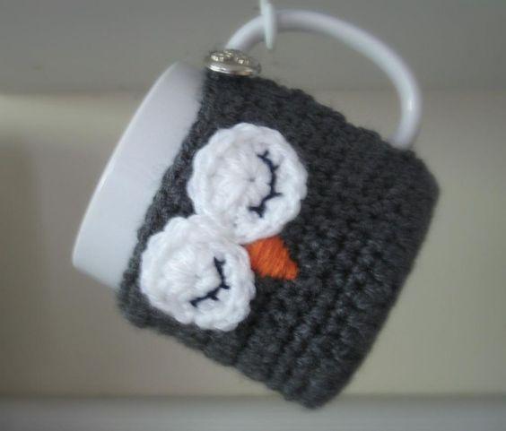 Sleepy Owl Coaster Cozy - Crochet pattern by Ruby Needles on Craftsy and Ravelry!