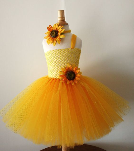 yellow dress for baby girl po