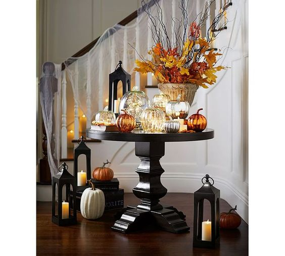 Recycled Glass Mercury Pumpkins | Pottery Barn