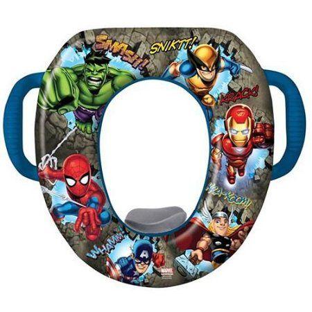 Potty seat marvel heroes and heroes on pinterest - Marvel superhero bathroom accessories ...