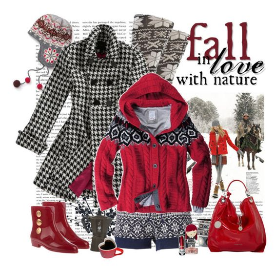 fall in love with nature by fashion-mariquita-camy on Polyvore featuring polyvore, fashion, style, Monsoon, Melissa, Eribé, shu uemura, Bialetti, Harajuku Lovers, J.Crew, Hermès and Bogner