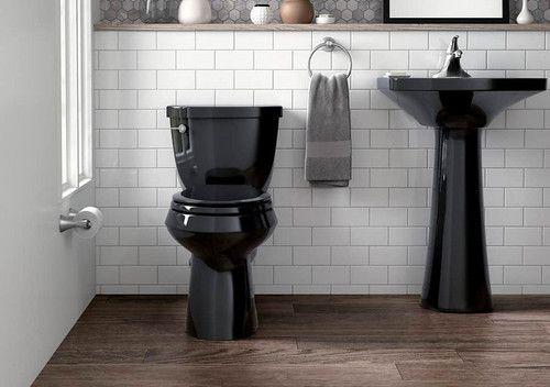 5 Outrageous Ideas For Your Black Toilets Black Toilets In 2020 Black Toilet Black Bathroom Toilets And Sinks
