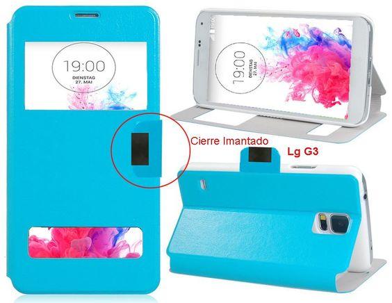 FUNDA Telefono Para LG G3 VENTANA Tapa Movil Flip Cover - https://complementoideal.com/producto/fundas/fundas-telefono-con-tapa/funda-tipo-libro-con-doble-ventana-para-lg-g3/  - Con la Funda Tipo Libro Con Doble Ventana Para LG G3 tendrás una protección total del tu teléfono móvil, ya que protege tanto delante como la parte de atrás de esta forma tendrás protección 100% del dispositivo. Diseñada exclusivamente para LG G3, encajando perfectamente además de imitar la f