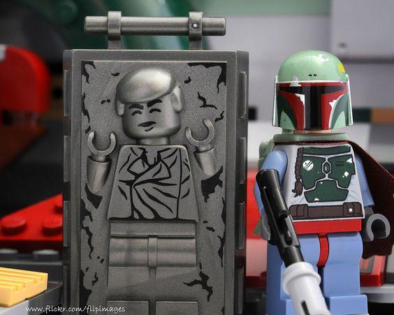 Han Solo in Carbonite /by DigiNik13 #flickr #LEGO #StarWars