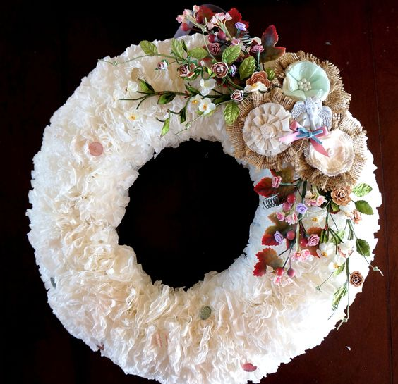 Coffee Filter Wreath   Coffee Filters!!!   Pinterest   Coffee Filter ...
