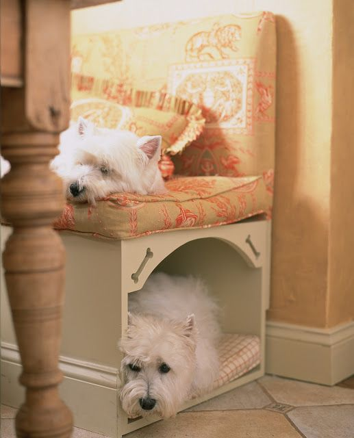"""This is pretty perfect for Libby. She loves to crawl under things so a built in """"cave"""" would be very appropriate."""