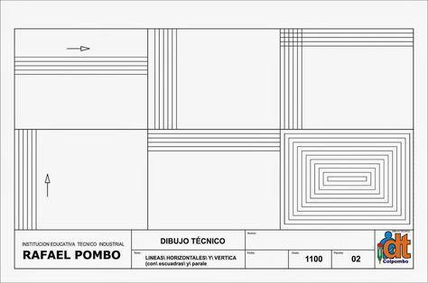 Estandar 4 Utilizar Adecuadamente Los Instrumentos Basicos De Dibujo Tecnico Y Elaborar Con E Instrumentos De Dibujo Tecnicas De Dibujo Ejercicios De Dibujo