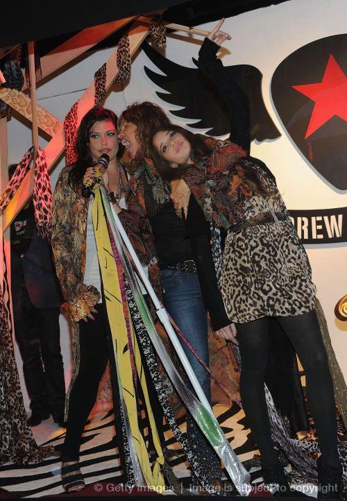 Steven Tyler Mia Tyler and Chelsea Tallarico October 14,2012 New York