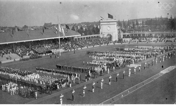 1916 - The Games were cancelled due to WWI 1920 - Antwerp Games The Olympic flag was introduced, as was the Olympic oath. Germany, Austria, Bulgaria, Hungary, and Turkey are not invited, having been on the wrong side of the war. image source: http://www.olympic.org