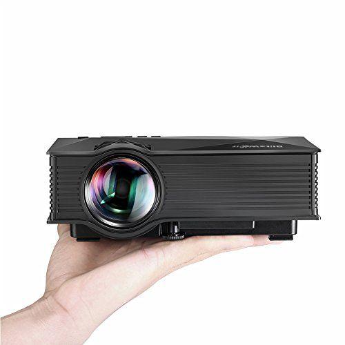 Vidéoprojecteur LED WiFi Portable,BlitzWolf LCD Projecteur san Fil Projecteur de Vidéo Multimédia Home Cinéma avec Télécommande 1200 Lumens…
