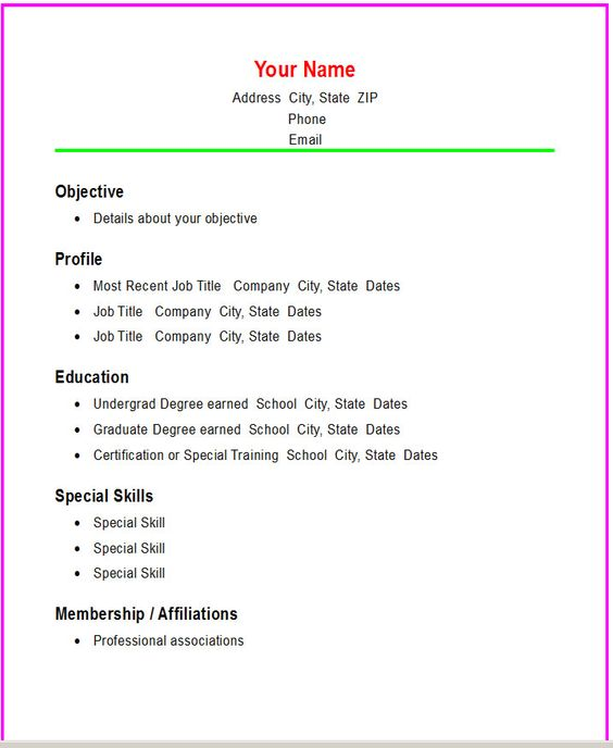 21 Basic Resumes Examples For Students: Simple, High School Students And Student On Pinterest